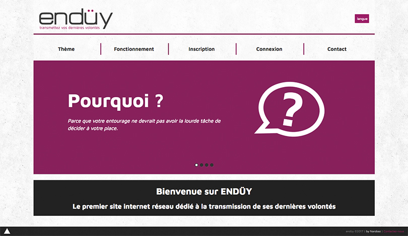 plateforme application web enduy